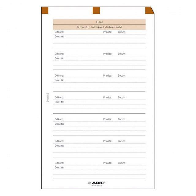 10de0074a Formulár E-mail A6 (5 listov) | ADK